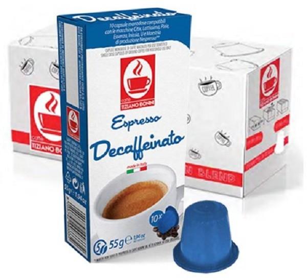 10 Kapslen - TIZIANO BONINI | Decaffeinato | Nespresso kompatibel