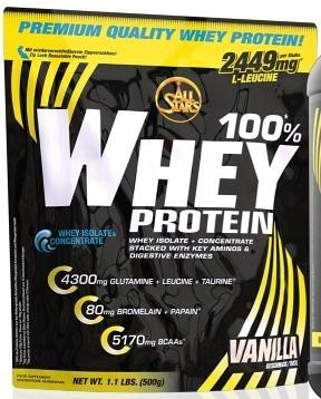 All Stars 100% Whey Protein, 500 g Beutel