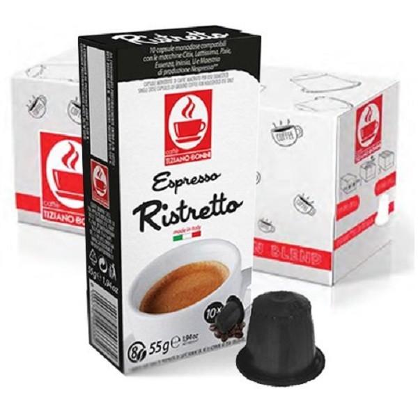 10 Kapslen - TIZIANO BONINI   Ristretto   Nespresso kompatibel