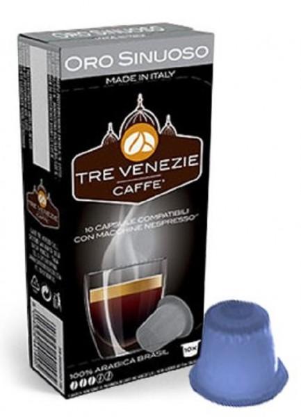 10 Kapseln - TRE VENEZIE | Oro Sinuoso Arabica | Nespresso kompatibel