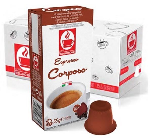 10 Kapslen - TIZIANO BONINI | Corposo | Nespresso kompatibel